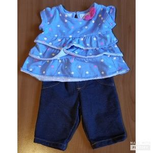 Small Wonders Blue layered Shirt with Pants